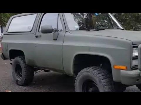 M1009 CUCV Military Chevy K5 Blazer 6 2 Diesel Restoration