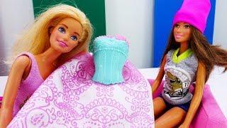 Тереза и Барби готовятся к свадьбе - Мультики с куклами