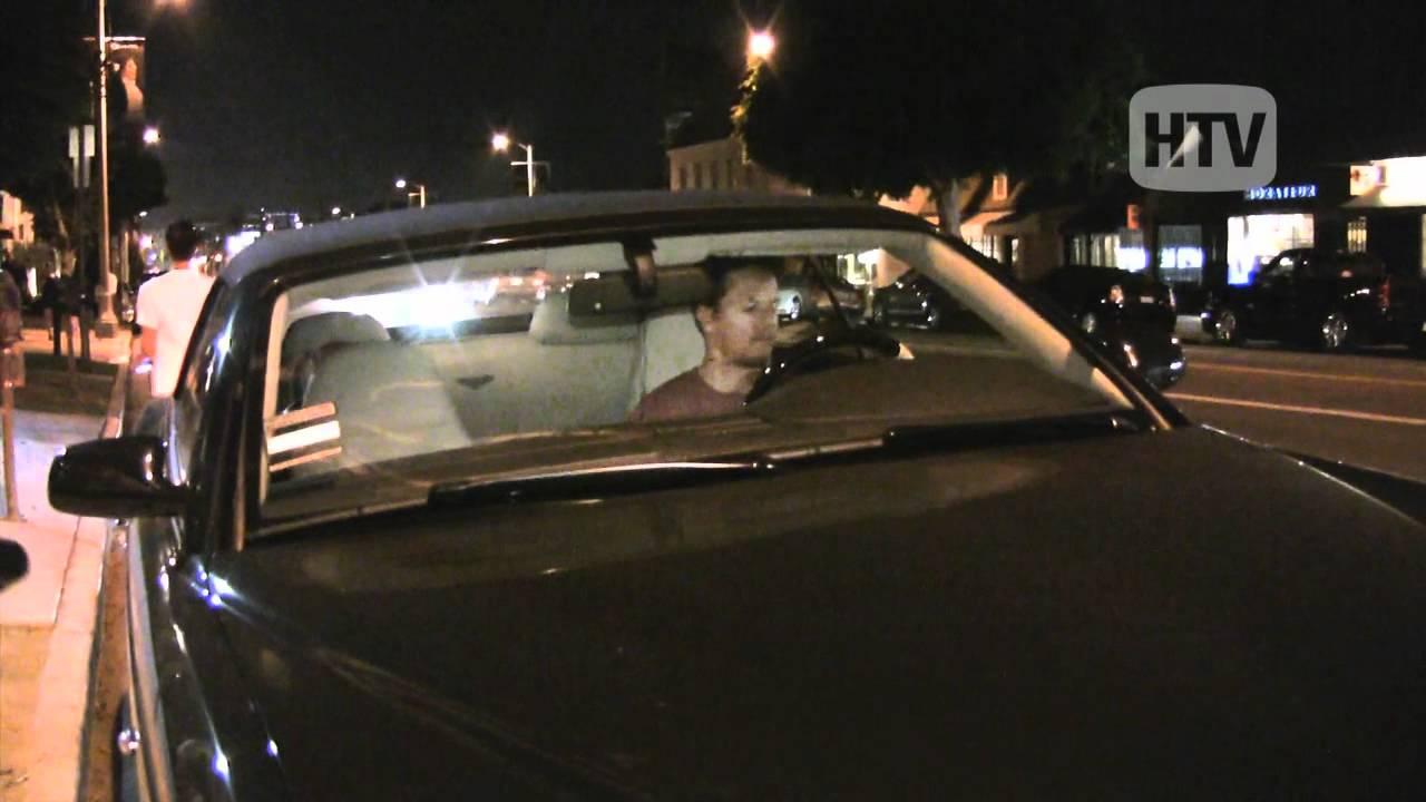 Bentley convertible mark wahlberg leaving popular los for Koi restaurant los angeles