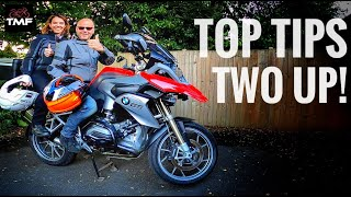 How to ride a motorcycle with a pillion passenger - Hints and tips for two up riding