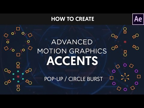 After Effects Tutorial : Animated Circle Burst / PopUps
