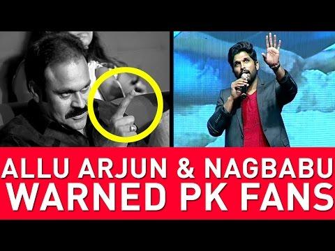 Finally, Allu Arjun Warned Pawan Kalyan Fans In Front Of Chiranjeevi Fans