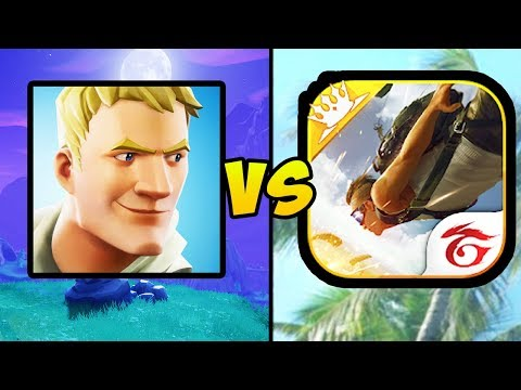 """FORTNITE MOBILE VS FREE FIRE BATTLEGROUNDS"" (Fortnite Battle Royale, Mobile Games, IOS, Android)"