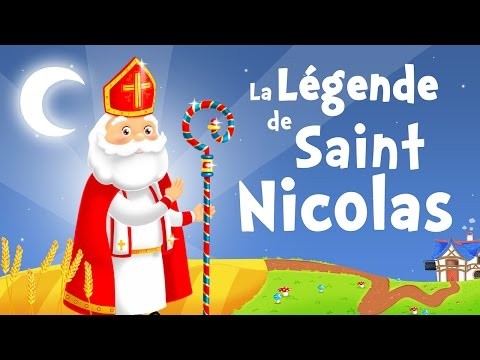 The Legend of Saint Nicholas in French - Christmas song for kids with lyrics !
