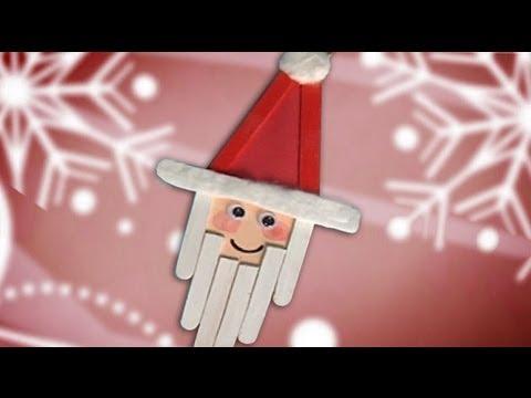 Un pap noel de decoraci n en navidad manualidades para for Decoracion navidena con ninos