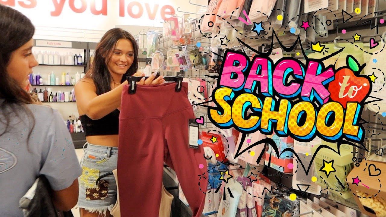 BACK TO SCHOOL 2021 SHOPPING + HAUL! DAY 1! EMMA AND ELLIE FAMILY