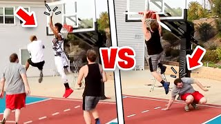 INSANE 2V2 MINI HOOP BASKETBALL + 1V1 CHALLENGE!