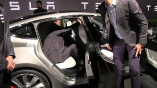 Tesla Model 3 exterior: door handles and doors