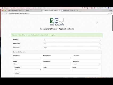 Recruitment Center Online System - Riyadh Elm University
