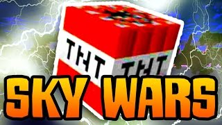 "Minecraft SOLO Sky Wars #4: ""EPIC TNT JUMP!"""