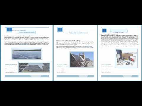 Alternative Energy Technologies solar publication