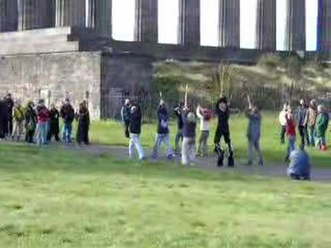 Strange people in Calton hill
