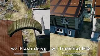 Pubg Flash Drive vs Internal Hard Drive OG Xbox One