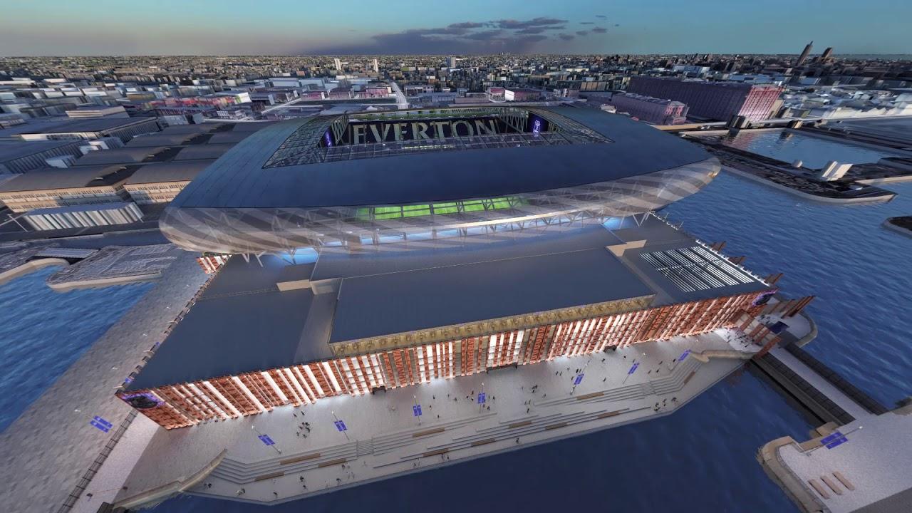 Everton new stadium design revealed - YouTube