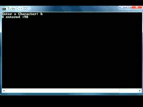 C Programming Tutorial 12 scanf printf char data types