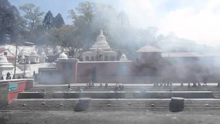 Procession at the Pashupatinath Temple in Kathmandu, Nepal
