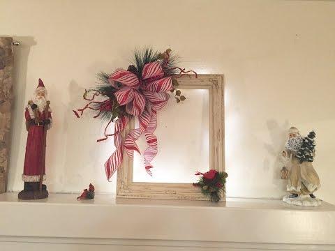 Annie Sloan Chalk Painted Frame Christmas Wreath DIY Process