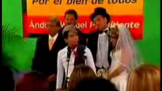 Joven CALLA a Andres Manuel Lopez Obrador y PRD