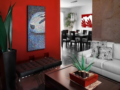 Home Decorating Ideas Red Walls - YouTube