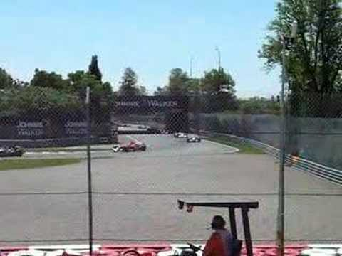 montreal f1 2006  tribune 31  first lap of the race
