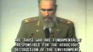 Cuban Leader Fidel Castro Speech at Rio Environmental Conference