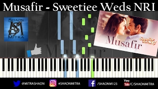 Atif Aslam - Musafir Song Piano tutorial | karaoke | Sheet Music