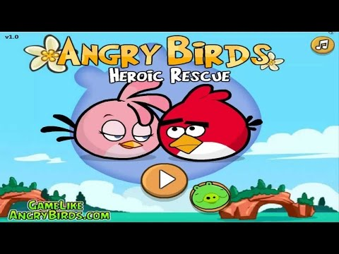 Angry Birds Heroic Rescue - GAMEPLAY WALKTHROUGH (Mini Angry Birds Bad Piggies)