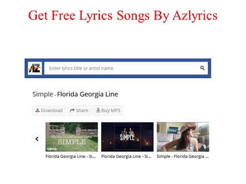 Free Lyrics Songs  AZlyrics