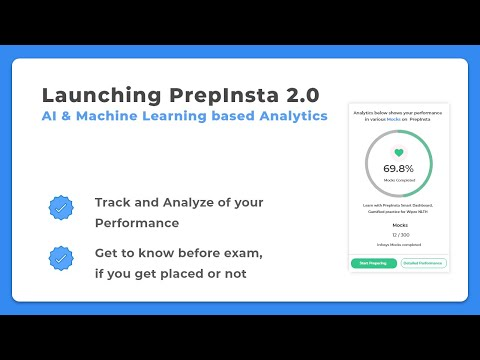 Launching PrepInsta 2.0 | AI based Analytics and much more