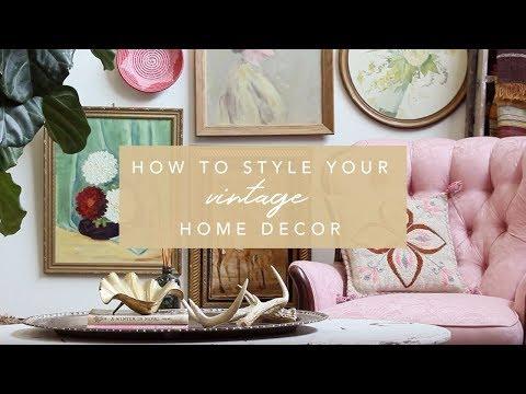 How to Style Vintage Home Decor + Flea Market Finds | Flea Style