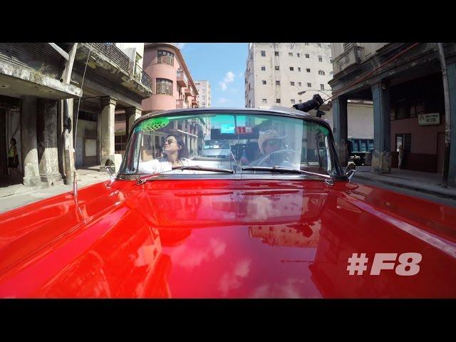 Un vistazo a la filamación de Rapidos y Furiosos 8 en La Habana