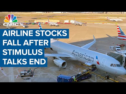 Airline Stocks Fall After News Of A Setback On Stimulus Talks