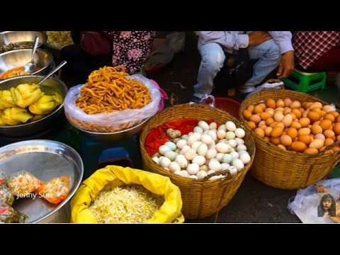 Asian Street Food, Art Of Living In Cambodian Market, Food Compilation In My Village