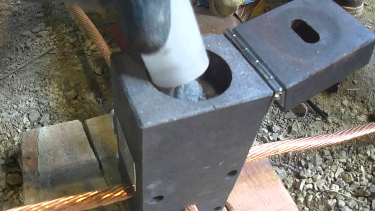 Conexi n de cobre 4 0 con soldadura exot rmica youtube for Como soldar cobre