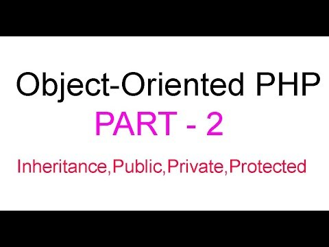 Object-Oriented PHP Bangla Tutorial Part-2(Inheritance,Public,Private,Protected)