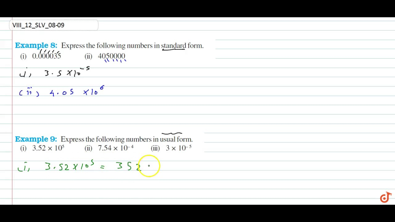 Ncert Class Viii Exponents And Powers Solved Examples