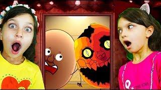 1 НОЧЬ с Яйцом  ШКОЛА АНИМАТРОНИКОВ клоун ОНО приключения челендж 5 ночей видео для детей летсплей