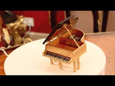 Antique Viennese Ormolu Piano Musical Jewellery Box G Brehmer