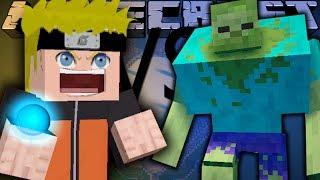 НАРУТО ПРОТИВ ЗОМБИ МУТАНТА! Битва мобов в Minecraft! 'Mob Battle'