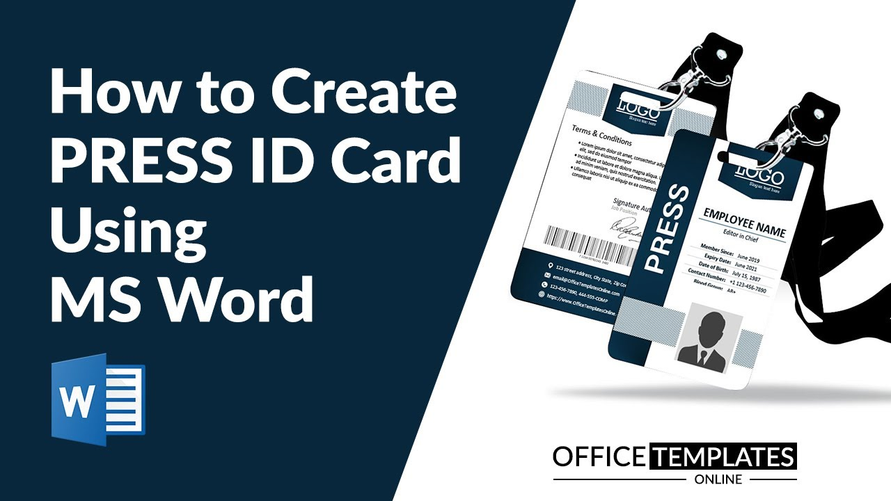 8 Free Press Id Card Pass Badge Templates For Ms Word Press pass template microsoft word