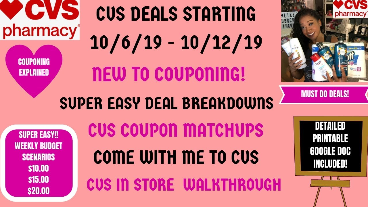 very easy new to coupons cvs deals starting 10  6  19
