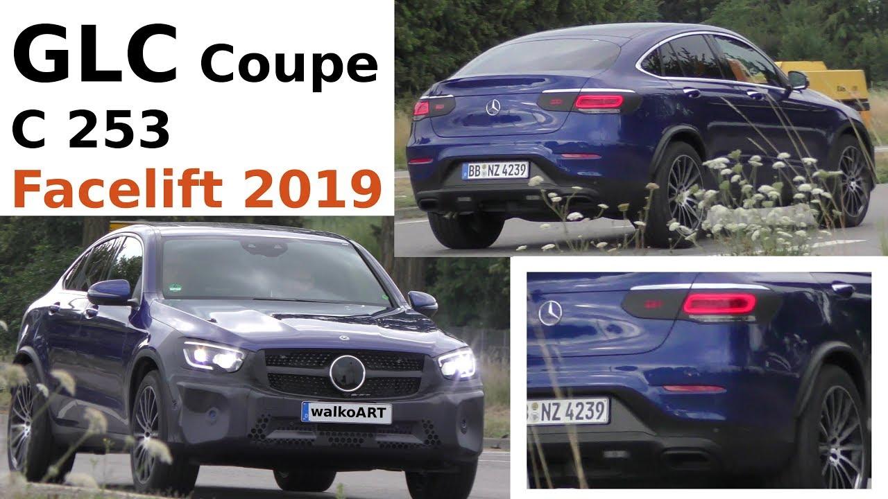 Facelift Mercedes Glc 2018 >> Mercedes Erlkönig GLC Coupe Facelift Modellpflege C253 FL close up - Nahaufnahme - 4K SPY VIDEO ...