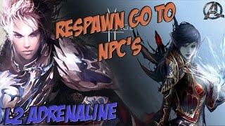 L2 ADRENALINE BOT - SCRIPT AUTO FARME + Respawn go to NPC's