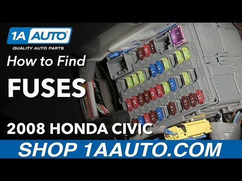 How to Locate Where to Find Fuses 2008 Honda Civic