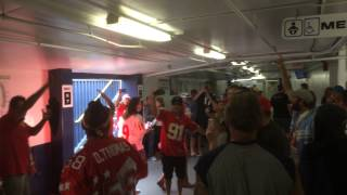Chiefs fans at Qualcomm after the win on October 19, 2014.