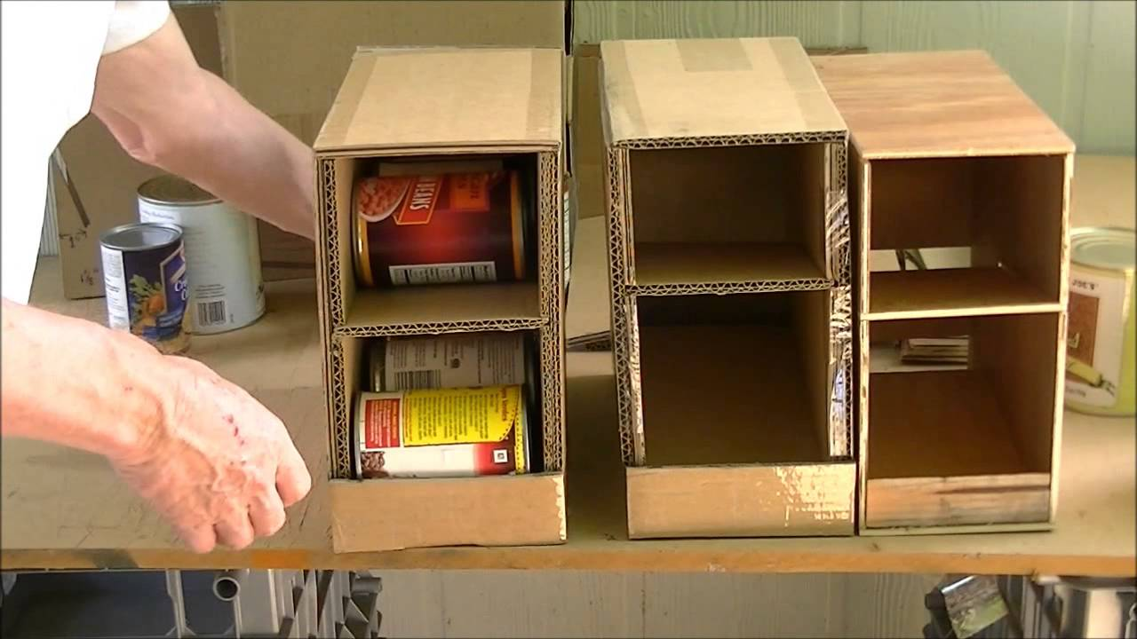 Home Made Can Organizer - YouTube