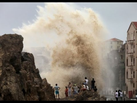 Powerful Typhoon Goni Slams Japan
