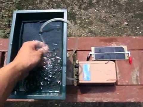 Quot Wing Solar Quot Aquarium Air Pump Move With Small Solar