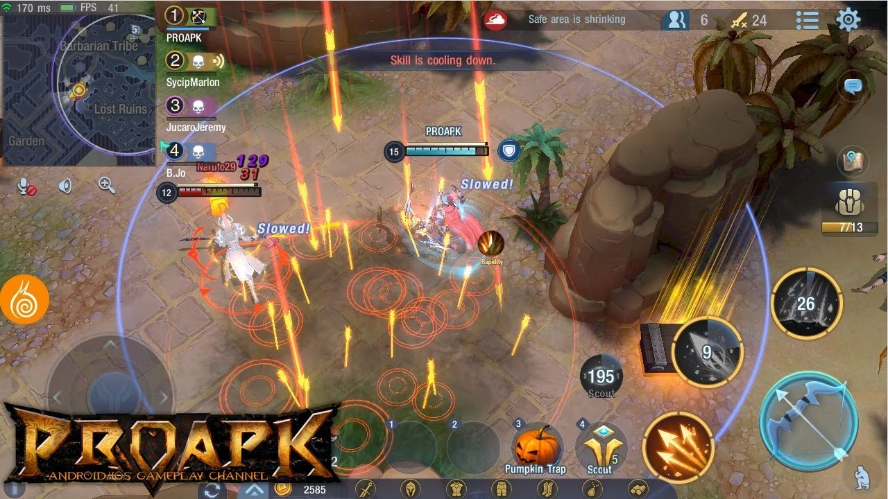Survival Heroes Android Gameplay Rank 1 Moba Battle