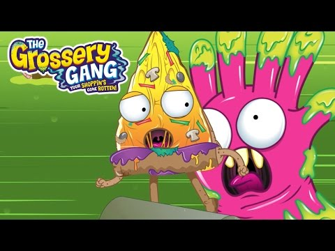 Grossery Gang Cartoon 🔥  PIZZA FACE AND THE CHASE 🔥 Cartoons for Children | Toys For Children